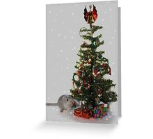 My first Christmas tree! Greeting Card