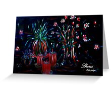 ROMANCE!! CANDLE LIGHT AND FLOWERS Greeting Card