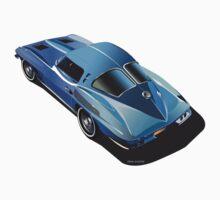 1963 Corvette Split Window Fastback Blue by Frank Schuster