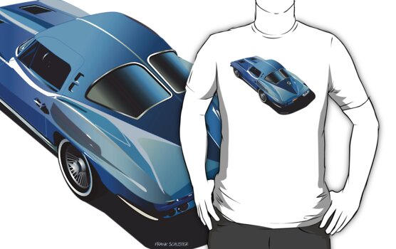1963 Corvette Split Window Fastback Blue by Frank Schuster