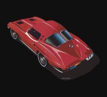 1963 Corvette Split Window Fastback Red by Frank Schuster