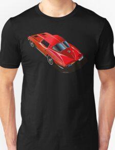 1963 Corvette Split Window Fastback Red T-Shirt