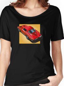1963 Corvette Split Window Fastback Red Yellow Women's Relaxed Fit T-Shirt