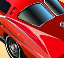 1963 Corvette Split Window Fastback Red Yellow Sticker