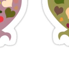 Lovebirds Tshirt Sticker