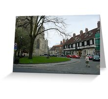 The Minster (around the back) Greeting Card
