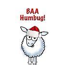"Cartoon Christmas sheep ""BAA Humbug"" by graphicdoodles"