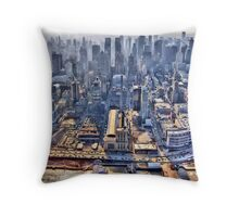 Early Morning Over New York City Throw Pillow