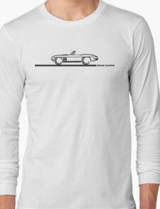 1965 Corvette Stingray Convertible Blk Long Sleeve T-Shirt