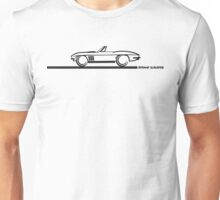 1965 Corvette Stingray Convertible Blk Unisex T-Shirt