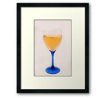 Glass of white wine Framed Print