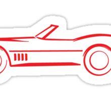 1968 Corvette Convertible Red Sticker