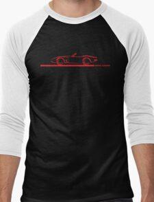 1973 Corvette Convertible Red Men's Baseball ¾ T-Shirt