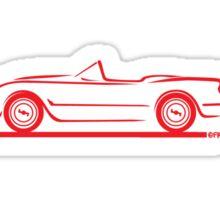 1953 1954 1955 Corvette Red Sticker