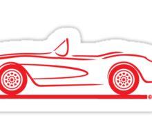 1956 1957 Corvette Red Sticker