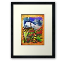 Cloudy Landscape Colors Framed Print
