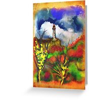 Cloudy Landscape Colors Greeting Card