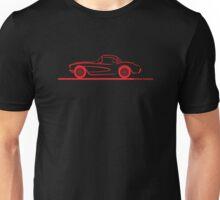 1956 1957 Corvette Hardtop Red Unisex T-Shirt