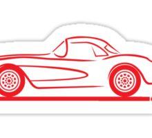 1956 1957 Corvette Hardtop Red Sticker
