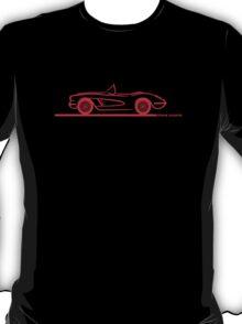 1958 Corvette Convertible Red T-Shirt
