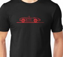 1958 Corvette Convertible Red Unisex T-Shirt