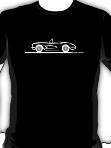 1958 Corvette Convertible White T-Shirt