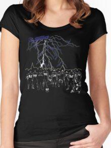 Hildesheim Invaders Lightning Skyline Crew Women's Fitted Scoop T-Shirt