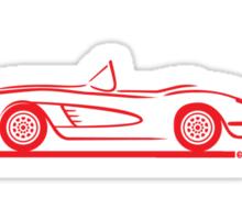 1959 1960 Corvette Convertible Red Sticker