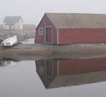 Foggy morning, Fogo Island by Jean Knowles