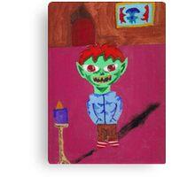 samy the goblin at home Canvas Print