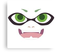 Inkling Face (green) Canvas Print