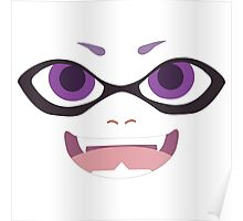 Inkling Face (purple) Poster
