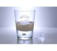 Baileys and Ice Photographic Print