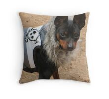Vinnie with Winter Coat Throw Pillow