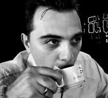 Drinking Coffee by DEJAN ALEKSOVSKI