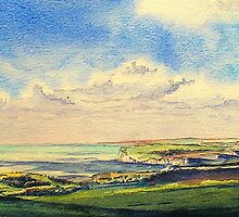 A view across the headlands of the Seven Sisters by LorusMaver