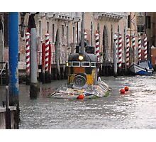 Yellow Submarine in Venice Photographic Print