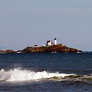 Coastal View of Nubble Lighthouse by Monica M. Scanlan