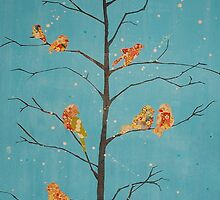Winter Sparrows by Jaclyn Bates