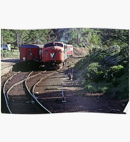 Engine going round V Line at Stoney point 19980602 0013 Poster