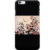 'Chinese Bell Flower and Dragonfly' by Katsushika Hokusai (Reproduction) iPhone Case/Skin