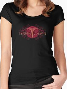 Tyrian Dawn Logo on Black T-Shirt Women's Fitted Scoop T-Shirt