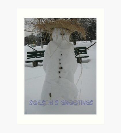 Snow man!.... Art Print