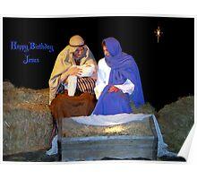 Happy Birthday Jesus Poster