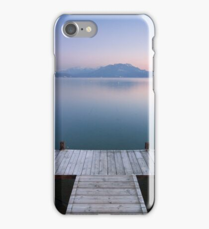 A very soft dusk on Annecy lake iPhone Case/Skin