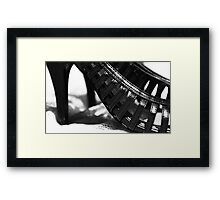 Black Heal Framed Print