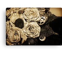 Steampunk Paper Roses will Never Fade Canvas Print