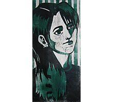 Self Portrait Woodcut Photographic Print