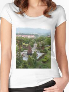 a large Malaysia landscape Women's Fitted Scoop T-Shirt