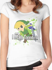 I Main Toon Link - Super Smash Bros. Women's Fitted Scoop T-Shirt